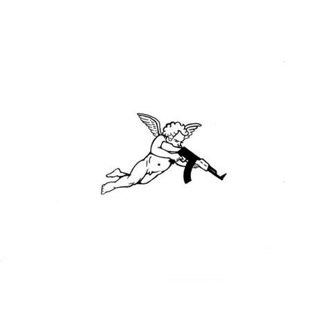 love illustration art tattoo valentines cupid ak47