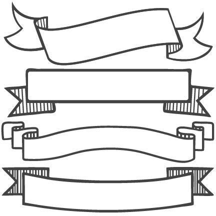 Banner Set Svg Scrapbook Banners Svg Cut Filesbanners Svg Files Free Svgs Free Svg Cuts Clipart Banner Template Transparent