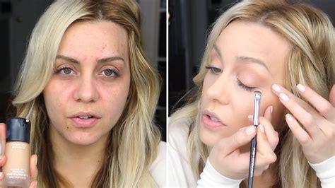 mac smokey eye makeup neutral look flawless face tutorial youtube
