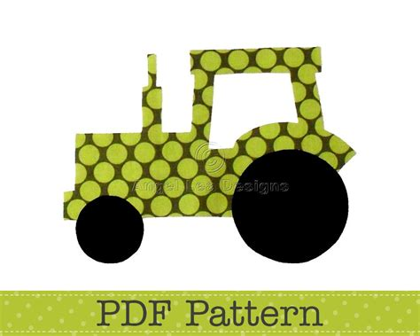 tractor template printable tractor applique template transport farm diy children pdf