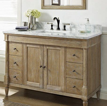 rustic chic weathered oak 48 quot vanity fairmont designs