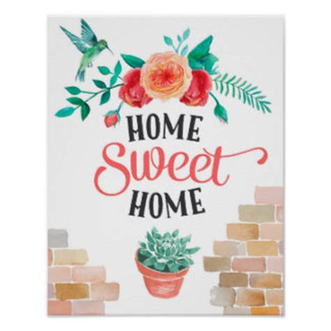 home sweet home posters zazzle co uk