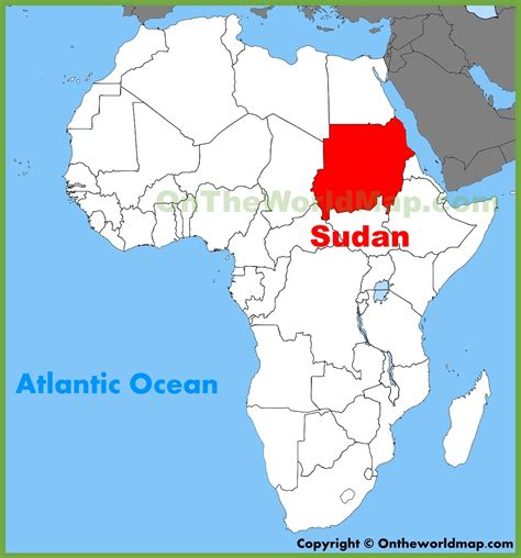 where is sudan on the world map sudan on world map timekeeperwatches