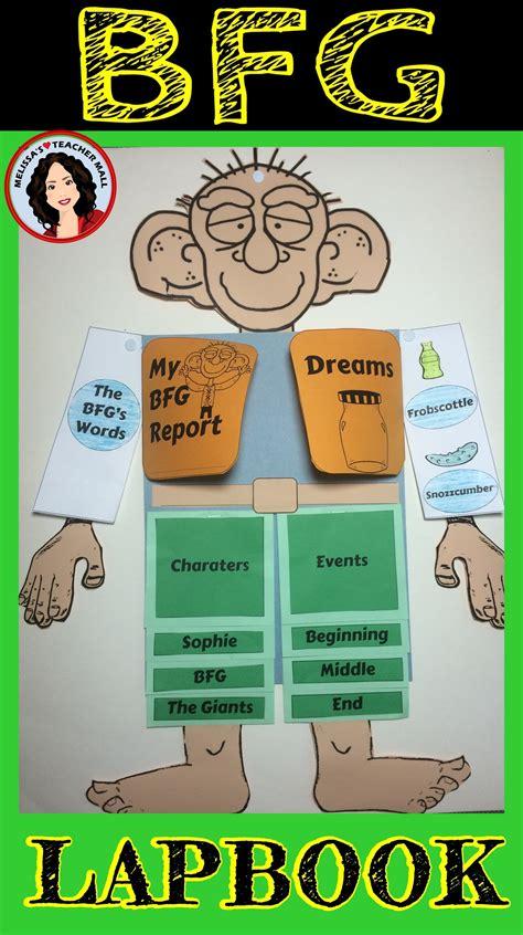 the bfg book report bfg lapbook book report novels parents and display