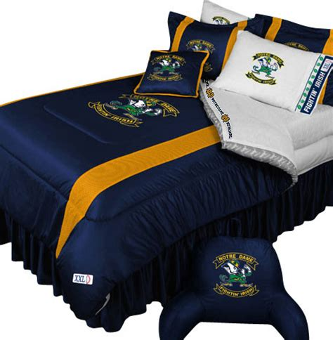 Ncaa Notre Dame Fighting Irish Bedding College Football Notre Dame Crib Bedding