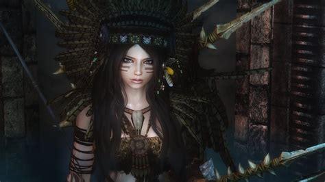 zzshop skyrim skyrim hair feather mods skyrim leilani s indian armor