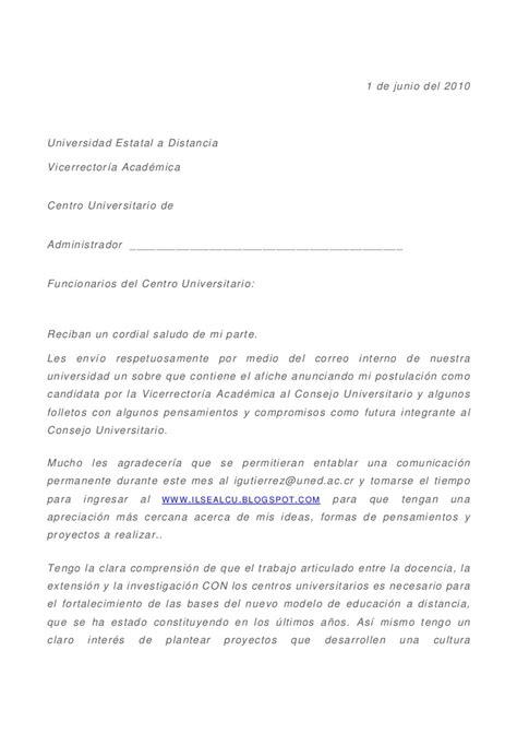 Modelo Carta De Presentacion Curriculum Docente Carta De Presentaci 243 N A Los Centros Universitarios