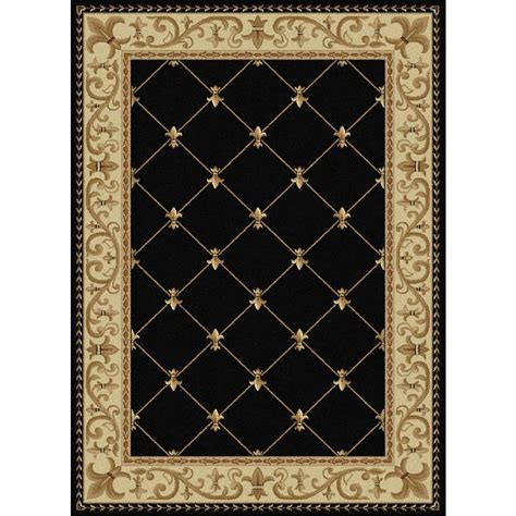 7 X 9 Area Rugs Tayse Rugs Sensation Black 6 Ft 7 In X 9 Ft 6 In Traditional Area Rug 4883 Black 7x10 The