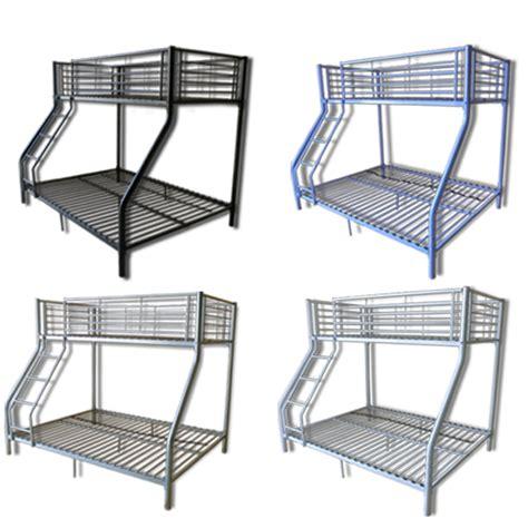Single Bunk Bed Frame Single Children Metal Sleeper Bunk Beds Frame No Mattresses New Ebay