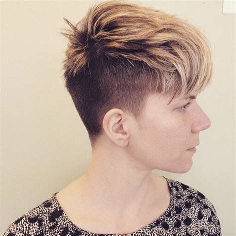 hairstyles for women with thick hair with shaved sided top 18 short hairstyle ideas popular haircuts