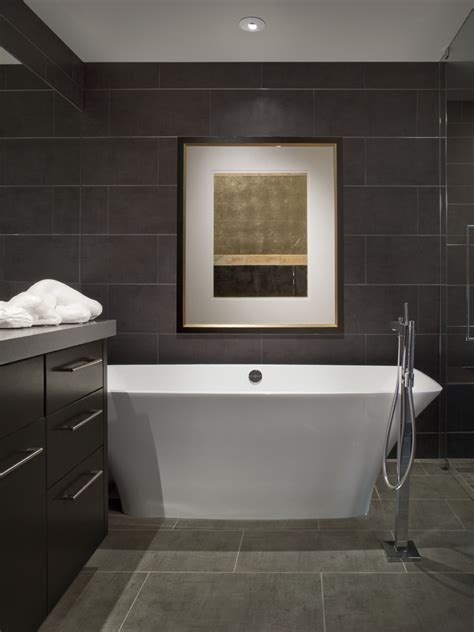 dark tile bathroom pictures of tile floors home bar traditional with beige walls brown countertop