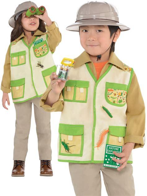 book themed clothing uk child jungle explorer costume boys girls safari fancy