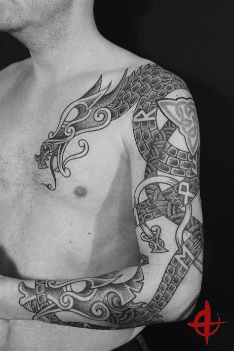 nordic dragon tattoo designs 93 best norse inspired tattoos and designs images on