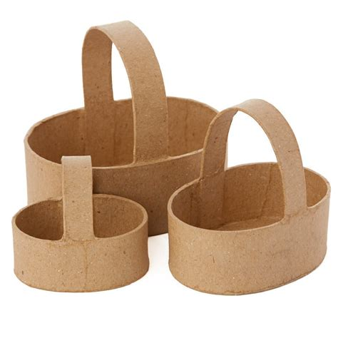 Paper Mache Craft Supplies - paper mache basket set paper mache basic craft