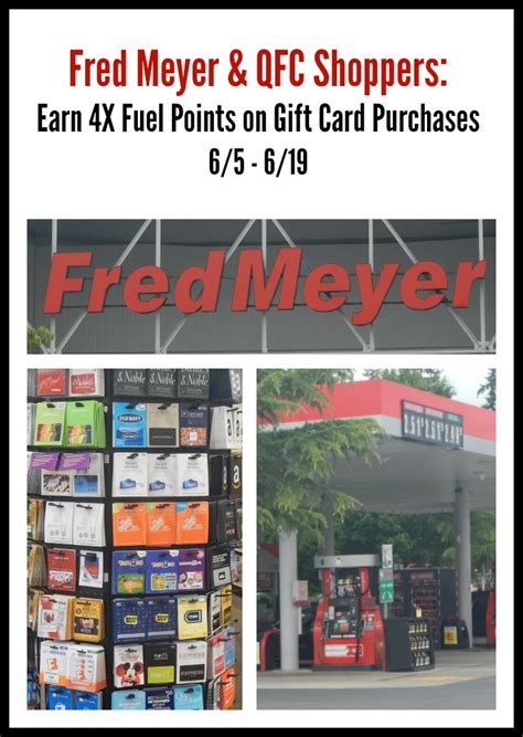 Gift Cards At Fred Meyer - fred meyer 4x fuel points gift cards promotion 100 gift card giveaway