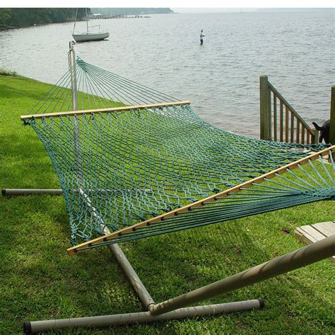 Rope Hammock With Stand Large Duracord Rope Hammock With Stand Dfohome