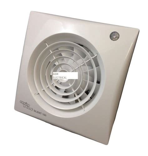 envirovent bathroom extractor fans envirovent sil100pir silent extractor fan 4 quot 100mm for