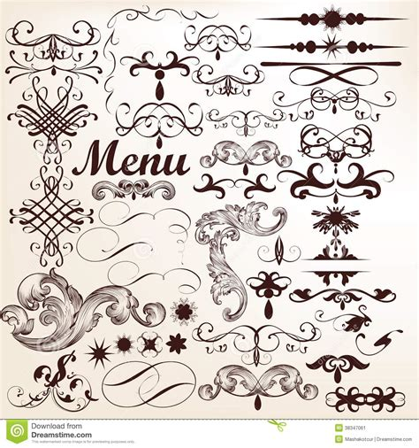 antique design elements 30 vector vector set of decorative vintage elements and flourishes