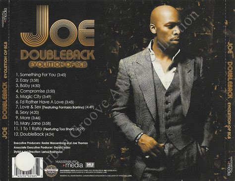 Joe Is Back With A New Album In Stores April 24th by Joe Doubleback Evolution Of R B Album