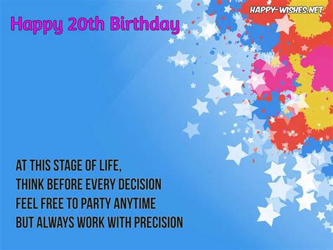 Happy Birthday 20th Wishes Happy 20th Anniversary Wishes Quotes And Images Happy Wishes