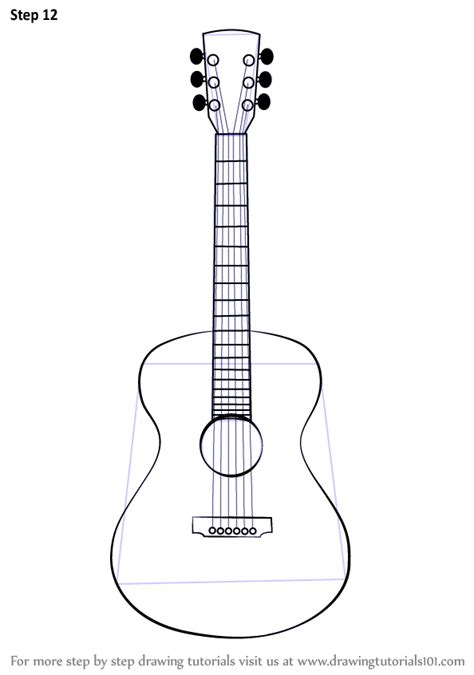 tutorial guitar electric learn how to draw an acoustic guitar musical instruments