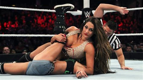 girl fight wardrobe malfunction nikki bella hot oops moment caught on camera youtube