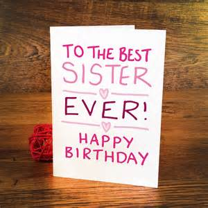 birthday card for sister by a is for alphabet