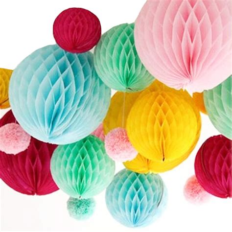 How To Make Honeycomb Paper Flower - promotion wedding decoration 5pcs 10 25cm tissue paper