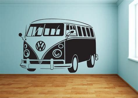 Deko Aufkleber Für Vw Bus by Cool And Large Vw Bus Wall Stickers Bulli Pinterest