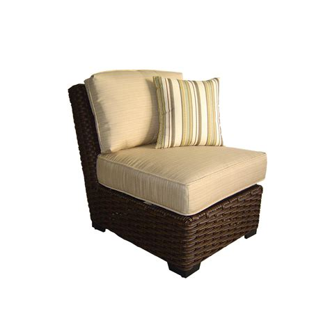 Patio Chairs Lowes Shop Allen Roth Blaney Textured Black Wicker Cushioned Patio Chair At Lowes