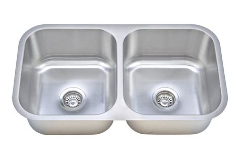 wells sinkware 16 gauge 50 50 double bowl undermount