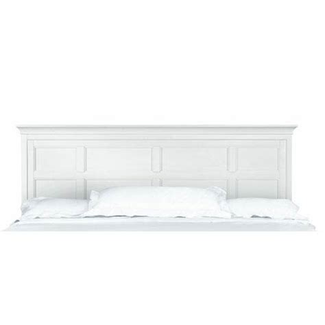 white panel headboard kentwood white king panel headboard only magnussen home