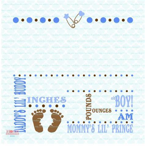 Birth Announcement Template Svg Birth Svg Baby Svg Birth Announcement Template