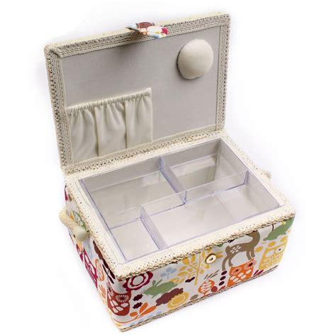 sewing pattern organizer box hobbycraft woodland medium fabric sewing box basket craft