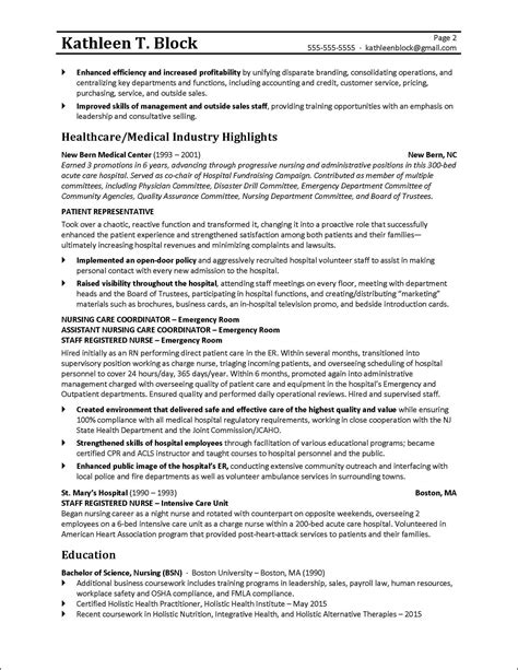 Care Manager Sle Resume by Management Resume Sle Healthcare Industry