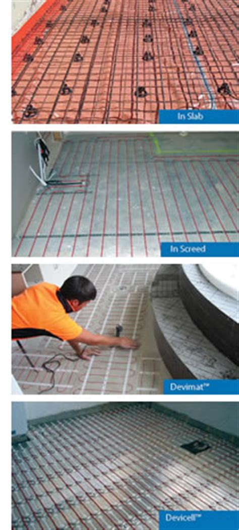 In Floor Heating Options Radiant Floor Heating With Devi Devex Systems Mona Vale
