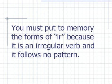 verb pattern white tema 4a the verb ir