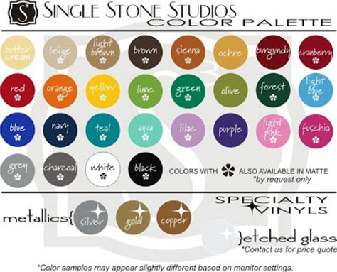 what color is april wall decals and stickers from single stone studios