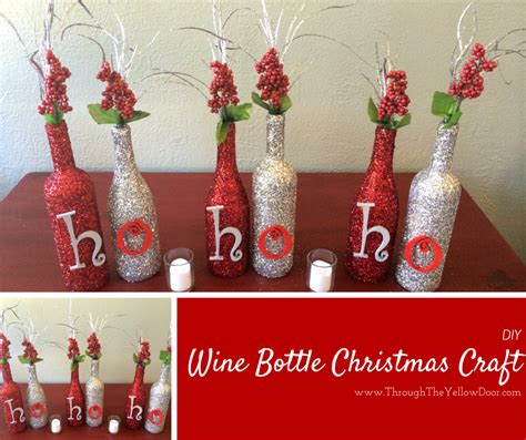 through the yellow door wine bottle christmas craft