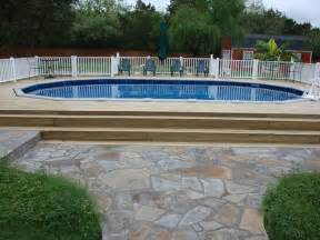 Discount Outdoor Pillows Oval Above Ground Pool With Deck Traditional Pool