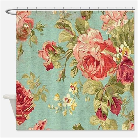 rose shower curtains vintage rose shower curtains vintage rose fabric shower