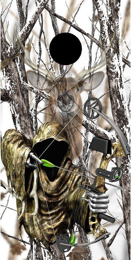 bowfishing tattoos grim reaper bow deer snow camouflage