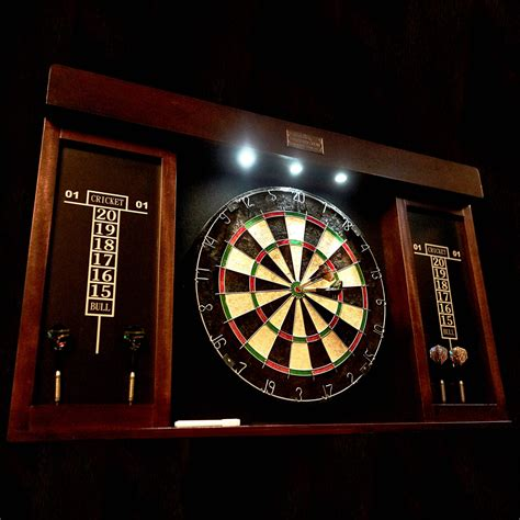 Barrington 40 Quot Dartboard Cabinet With Led Light Self