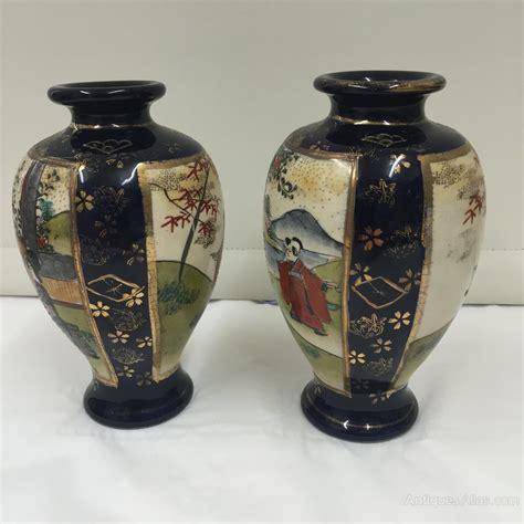vasi satsuma antiques atlas pair antique satsuma pottery vases circa 1890