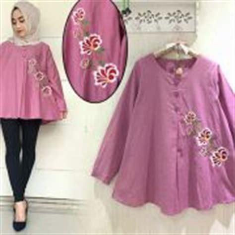 Atasan Wanita Murah Blouse Muslim Phasmina Amira Instan Maroon baju kebaya muslim desain modern model terbaru murah