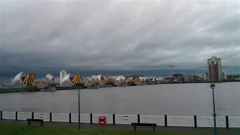 thames barrier video youtube thames barrier closing in time lapse and water flows into