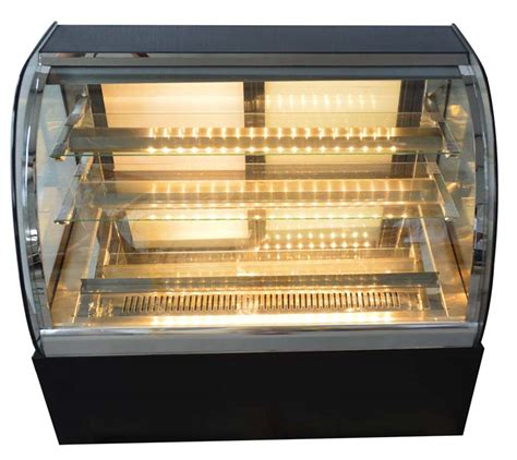 Countertop Pie Display 220v glass refrigerated cake countertop showcase display pies cabinet new ebay