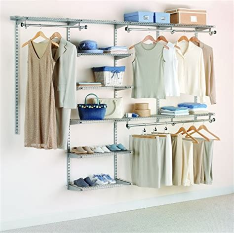 Rubbermaid Closet Installation by Jet Rubbermaid Home Prod Dorfile Fg3h8900titnm 4 To 8 Deluxe Closet Kit Titanium