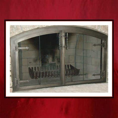 Custom Fireplace Glass Doors Artisan Glass Door With Hinges Northshore Fireplace