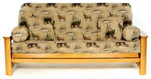 woodlands size futon cover rustic futon covers